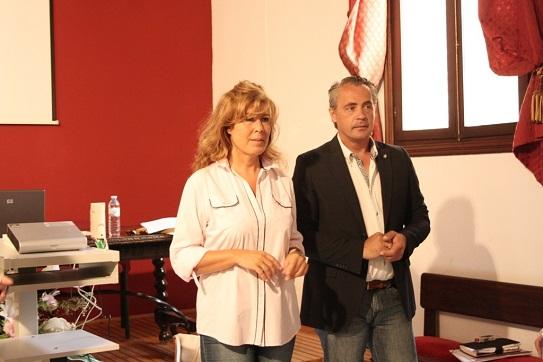 Los concejales, Rosa María Fernández de Moya y Joaquín Luque.