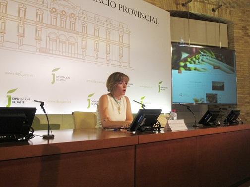 María Angustias Velasco presenta el Congreso sobre Gastronomía y Cultura Digital.