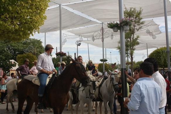 Buen ambiente en la Feria de Andújar 2014.