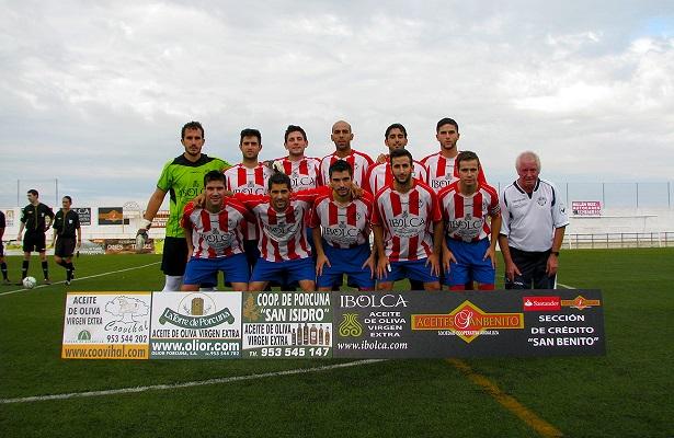 Formación inicial del Atlético Porcuna en este partido.