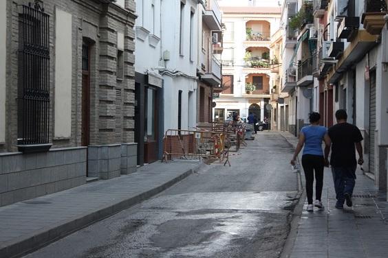 Calle Los Civiles, en Andújar.