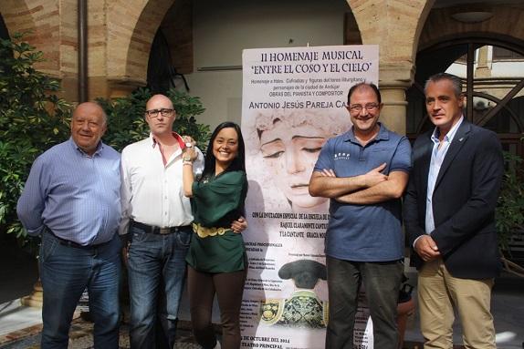 Francisco Vílchez, Antonio Jesús Pareja, Raquel Claramonte, Manuel Almansa y Joaquín Luque.
