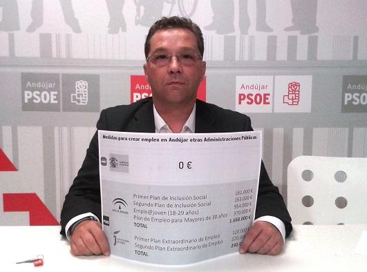 El portavoz municipal socialista en Andújar, Paco Huertas.