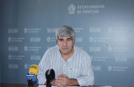 El concejal de Deportes del Ayuntamiento de Andújar, Curro Martínez.