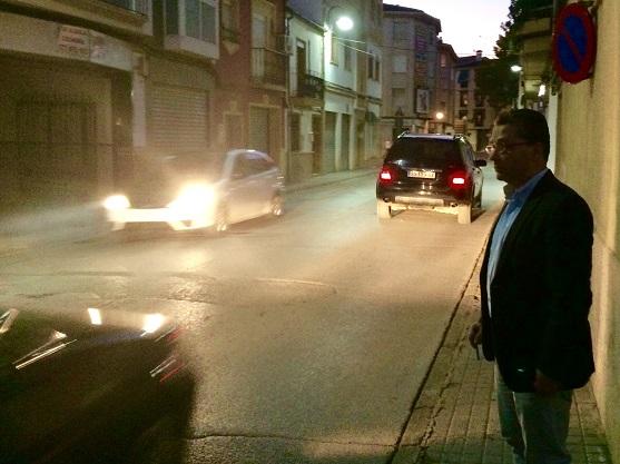Una imagen de la calle Lope de Vega, en Andújar.