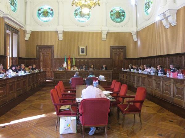 Vista general del salón de plenos del Palacio Provincial.