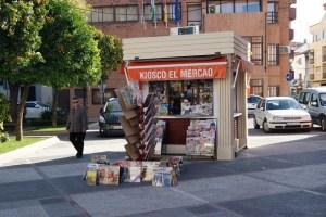 Kiosco en el centro de Andújar.
