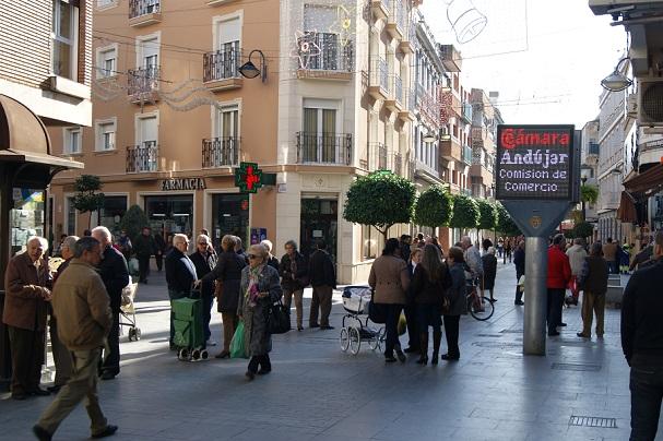 Calle comercial de Andújar.