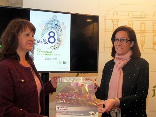 Francisca Molina y María del Mar Shaw presentan el programa con las actividades que se llevarán a cabo el 8 de marzo.