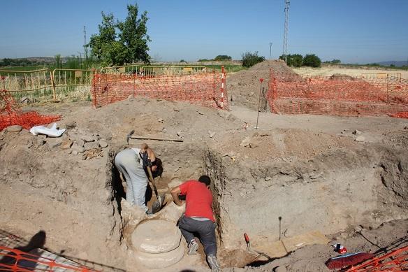 El yacimiento arqueológico de Los Villares.