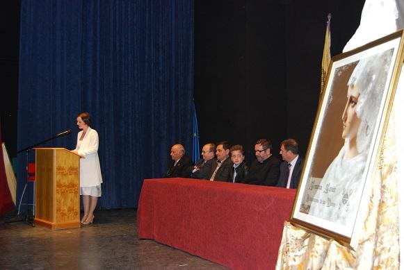 Acto de presentación del Cartel de la Semana Santa en Villanueva de la Reina.