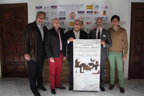 Acto de presentación de este espectáculo, homenaje a Manuel Pareja-Obregón.