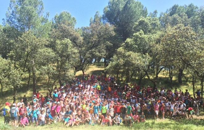 Escolares en el Parque Natural Sierra de Andújar.