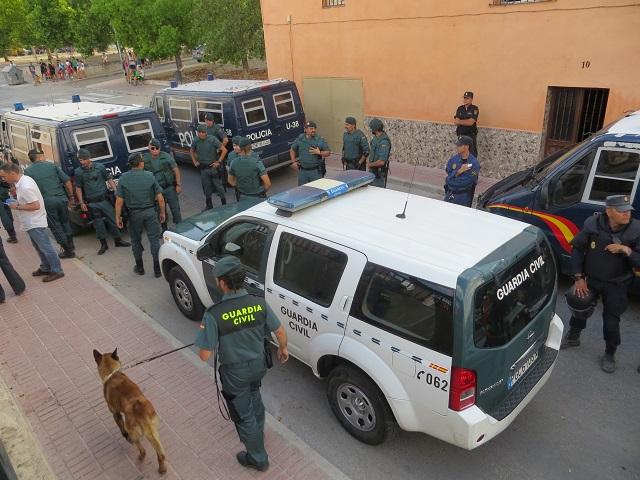 Se trata de una operación llevada a cabo conjuntamente por fuerzas de la Guardia Civil y de la Policía Nacional.