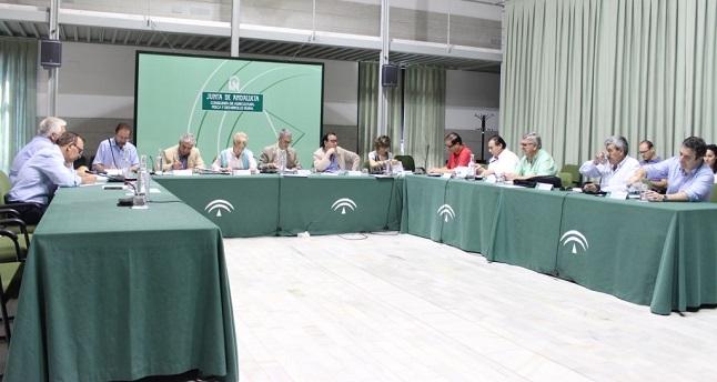 Elena Víboras preside la reunión en Sevilla con representantes de la Mesa de Interlocución Agraria.