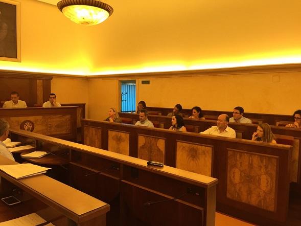 Un momento del pleno municipal celebrado en Andújar.