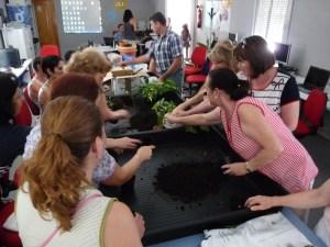 Durante la celebración de uno de los talleres.