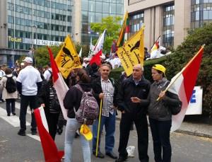 Ganaderos de Coag en Bruselas.