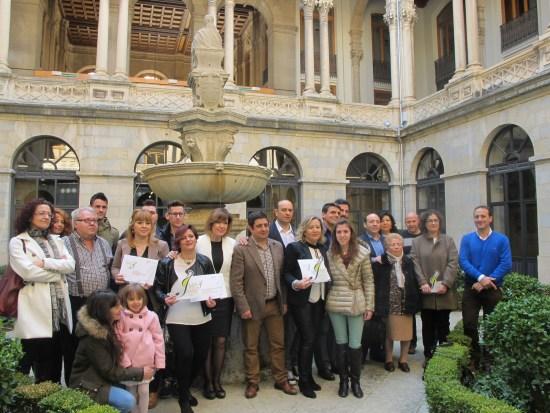 Foto de familia de los premiados del año pasado.