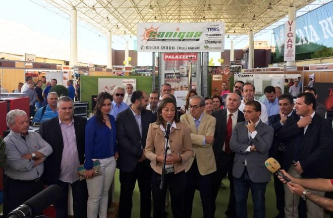 """Acto de inauguración de la V Feria Multisectorial """"Ciudad de Andújar""""."""