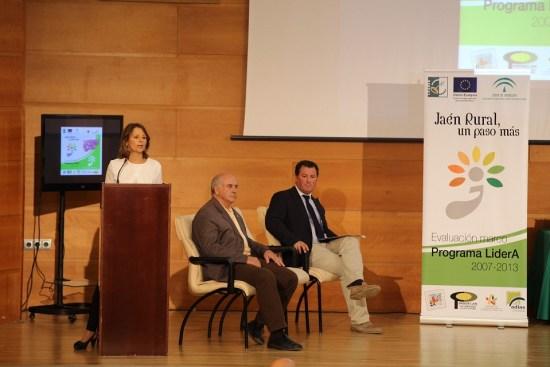 """La delegada del Gobierno, Ana Cobo, en la inauguración de la jornada """"Jaén Rural, un paso más""""."""