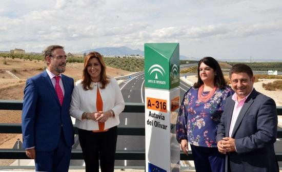 Acto de inauguración de la variante de Mancha Real de la Autovía del Olivar.