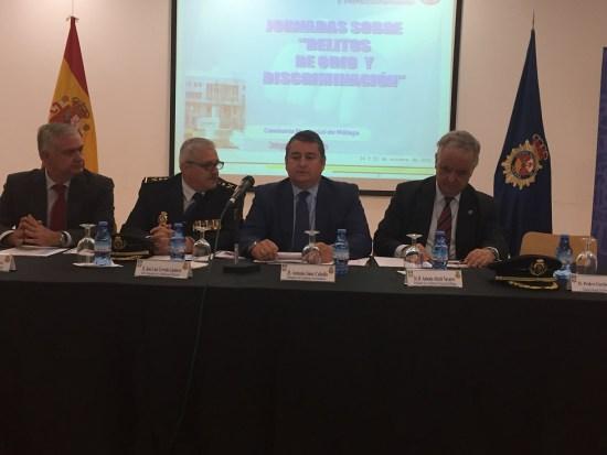 Acto de clausura de las Jornadas sobre 'Delitos de Odio y Discriminación' que la Policía Nacional ha celebrado en Málaga.