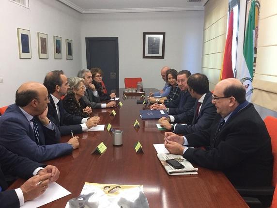 Emilio de Llera se ha reunido hoy con autoridades judiciales de Jaén.