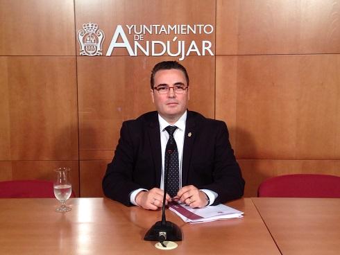 El Concejal de Hacienda del Ayuntamiento de Andújar, Pedro Luis Rodríguez.