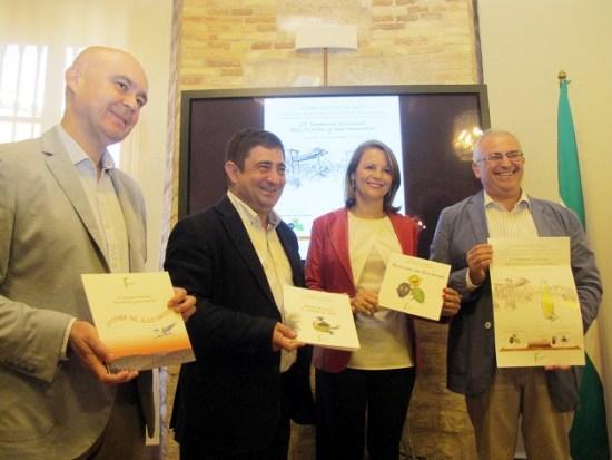 Manuel Parras, Francisco Reyes, Ana Cobo y José Juan Gaforio, durante la presentación de esta Semana Escolar.