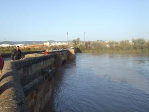 El río Guadalquivir a su paso por Andújar.