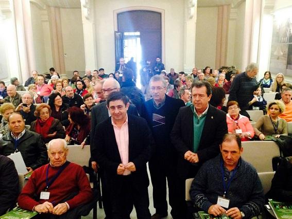 Francisco Reyes, José Bautista, Juan José Reca y Juan Fernández, antes de iniciarse estas jornadas.