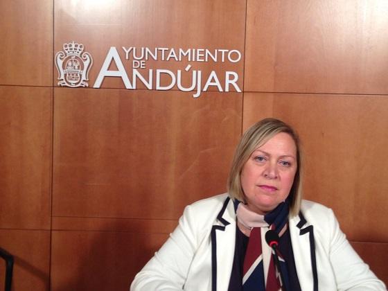 La Concejal de Personal del Ayuntamiento de Andújar, Pepa Jurado.