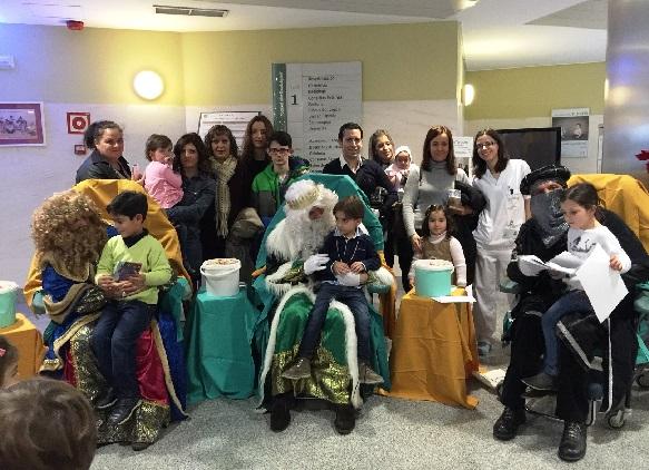 Numerosos niños asistieron a esta fiesta infantil organizada por el Hospital de Andújar.