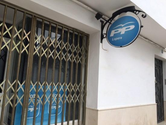 Sede local del Partido Popular de Lopera.
