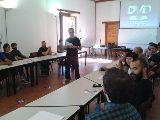 Imagen del taller de preproducción del Rodando por Jaén celebrado el año pasado, con la participación de Pablo Berger.