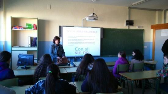 Un instante de la charla impartida a los alumnos de Andújar.