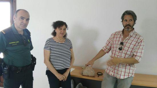 Acto de presentación de esta pieza arqueológica en Andújar.