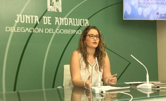 La coordinadora provincial del IAJ, Ana Morillo, en rueda de prensa.