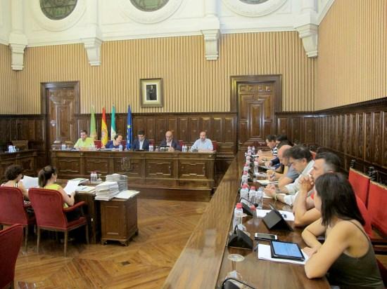 Miembros de la Corporación provincial, durante esta sesión plenaria.