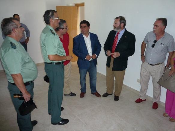 Juan Lillo, Francisco Reyes, Luis Ortega y Juan Ortega en el Cuartel de Torredonjimeno.