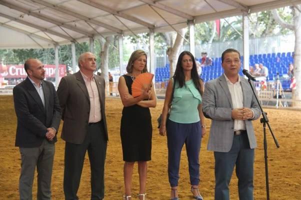 Manuel Hueso, Juan Balbín, Encarnación Camacho, Ana Peña y Francisco Huertas. Foto: Ayto. Andújar.