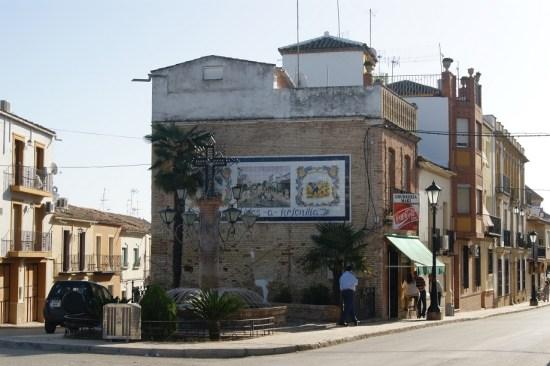 Una imagen del casco urbano de Arjonilla.