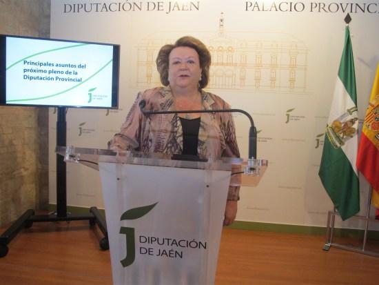 Pilar Parra, durante su comparecencia ante los medios.