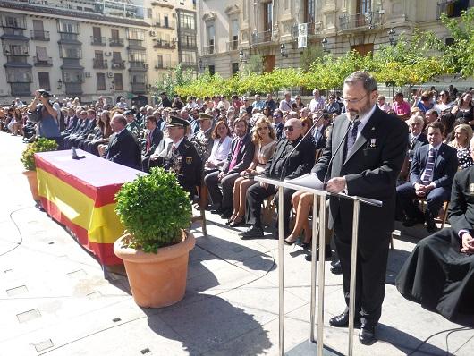 El subdelegado del Gobierno en Jaén, Juan Lillo, presidió el Acto Oficial de la Festividad de los Ángeles Custodios.