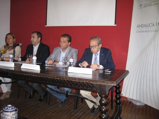 Rosario Martínez, Antonio de la Torre, Francisco Huertas y Eduardo Criado. Foto: Ayto. Andújar.