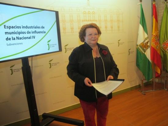 Pilar Parra ha presentado la convocatoria de subvenciones para la dotación y mejora de espacios industriales en los municipios de la Nacional IV.