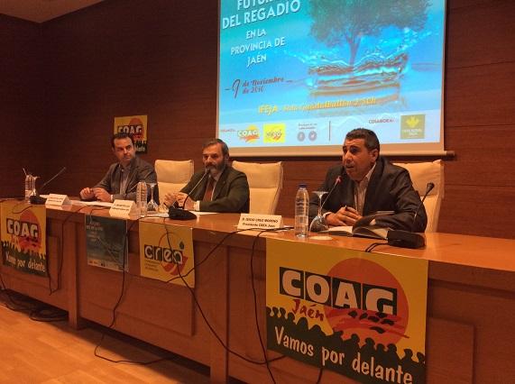 Juan Lillo participó en la apertura de la jornada sobre el futuro del regadío en Jaén organizada por COAG Jaén.
