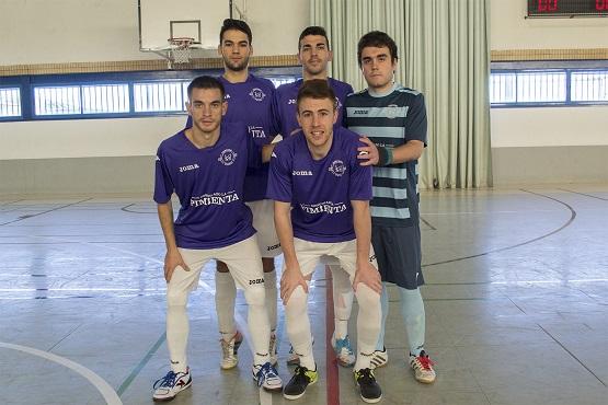Equipo inicial de la A.D Porcuna Futsal.