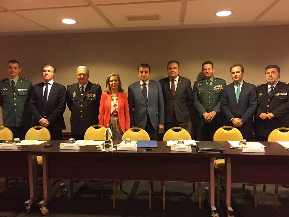 El delegado del Gobierno en Andalucía, Antonio Sanz, clausuró el IV Curso de Coordinación de Operaciones del CITCO.